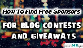 How To Find Free Sponsors For Blog Contests & Giveaways