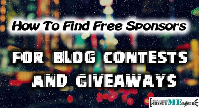 Free Sponsors for Blog Contests