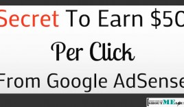 Secret To Earn $50/Click From Google AdSense