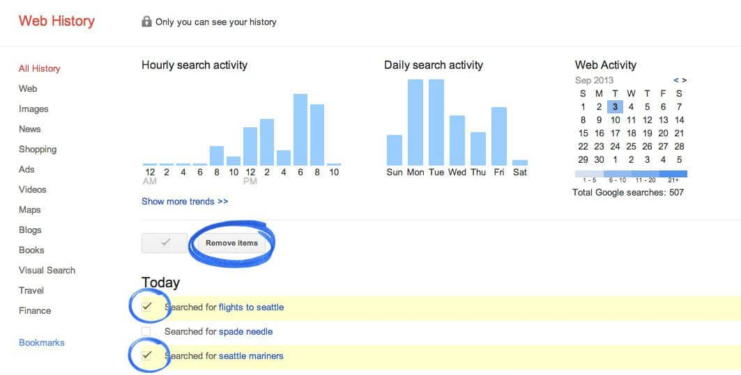 Google search history delete 1 Searching Porn? How & Why One Should Delete Google Search History