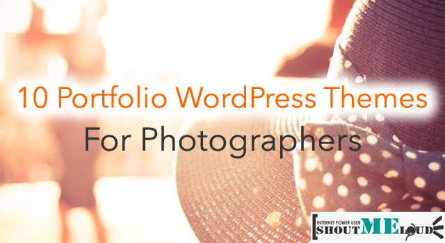 10 Portfolio WordPress Themes for Photographers
