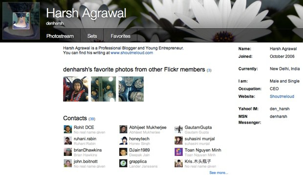 Submit blog to flickr