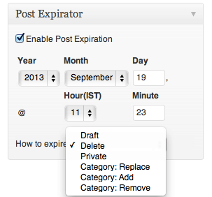 automatically Delete WordPress post Post Expirator : Delete WordPress Post After Specific Time