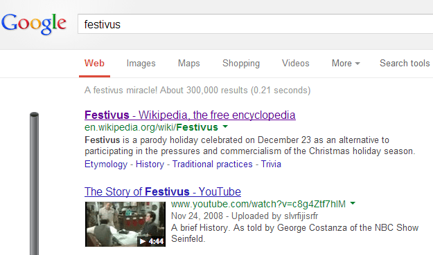 festivus 7 Mind Blowing Secret Easter Eggs To Celebrate Googles Birthday