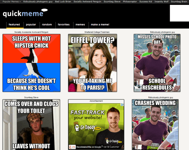 quickmeme Top 5 Free Online Meme Generator Websites