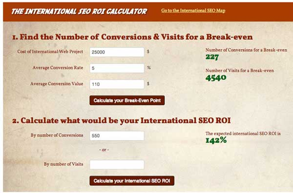 roi calculator 10 Amazing Tools to Enhance Your International SEO Process