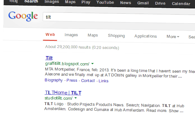 Google Tilt search
