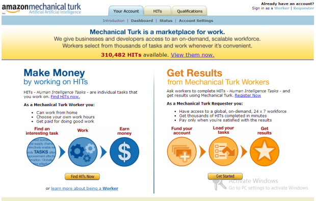 Amazon Mechanical Turk Jobs