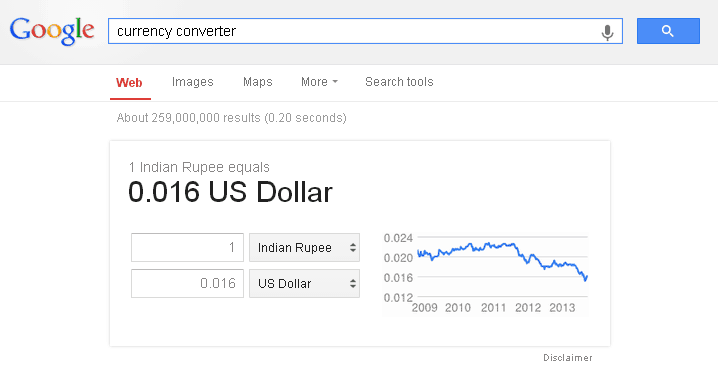 Currency Converter 8 Interesting Google Tricks That You Might Not Know