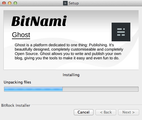 Ghost local installer