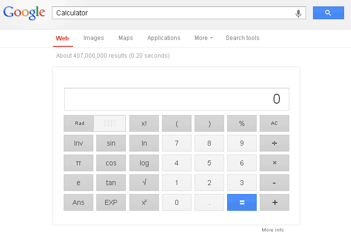 Google calculator 8 Interesting Google Tricks That You Might Not Know