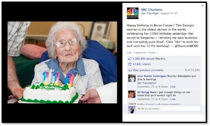 Happy Birthday Worlds Oldest Baby Facebook Viral Photo