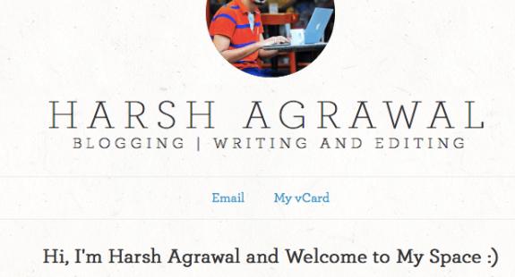 Harsh Agrawal brand yourself
