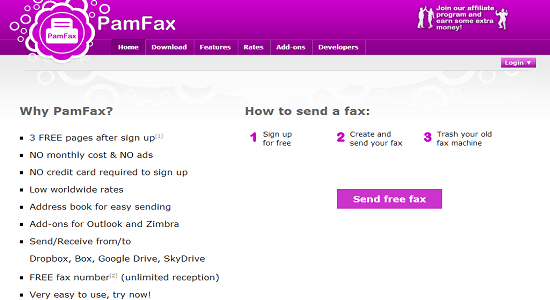 PamFax 5 Best Websites To Send Free Fax Online