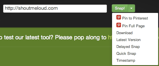 Screenshot of Entire Webpage