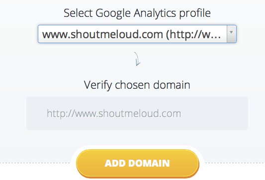 Select Google Analytic profile Monitor BackLinks: Get Email Notifications For New BackLinks