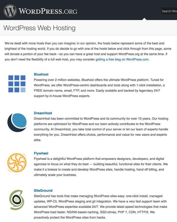 Siteground WordPress hosting official