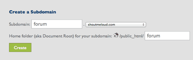Sub-domain addition