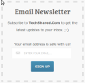 Email Newsletter Subscription Form