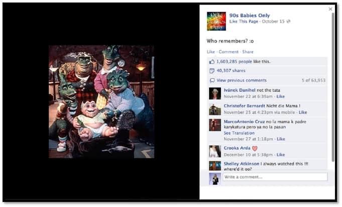 The bounties of the nineties facebook viral photo