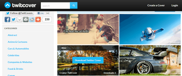 Twitcover 5 Free Websites to Download Twitter Headers