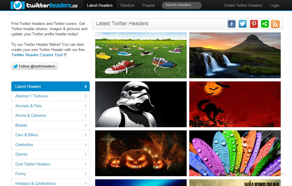Twitterheaders.co  5 Free Websites to Download Twitter Headers