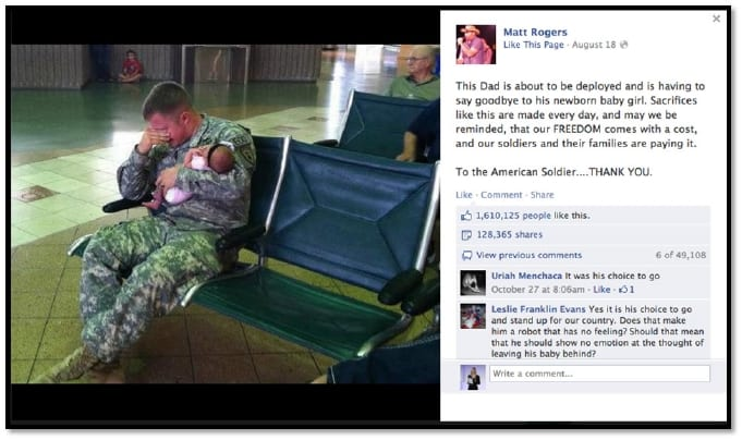 War is ugly facebook viral photo