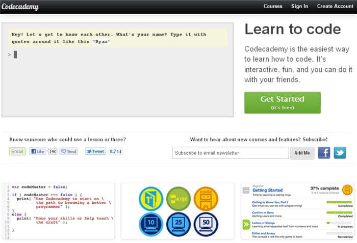 codecademy 01 700x477 5 Best Websites To Learn Coding For Free