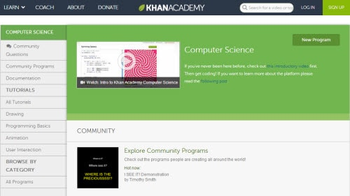 khan academy 5 Best Websites To Learn Coding For Free