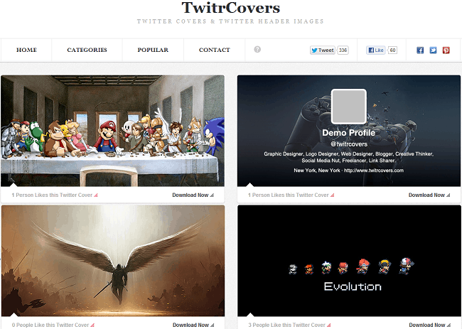 twitrcovers  5 Free Websites to Download Twitter Headers