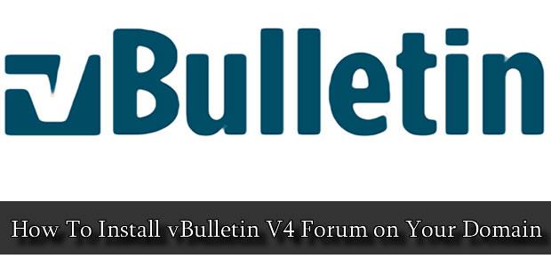 Install vBulletin Forum