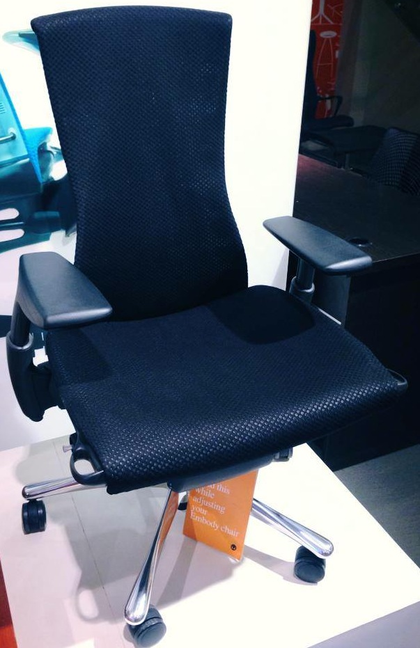 Embody Black Chair Best Ergonomic Chair For Long Sitting   Herman Miller Embody