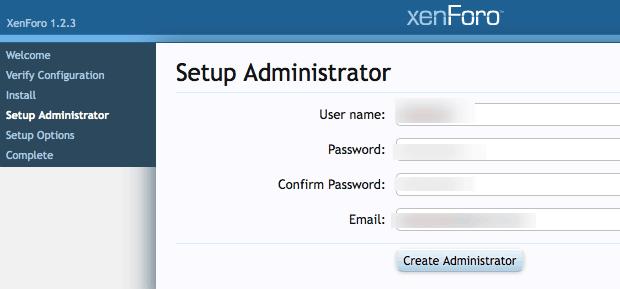 Forum admin details