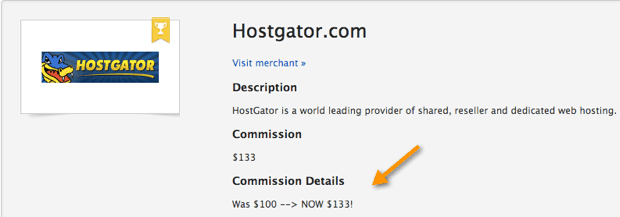 Hostgator more payout