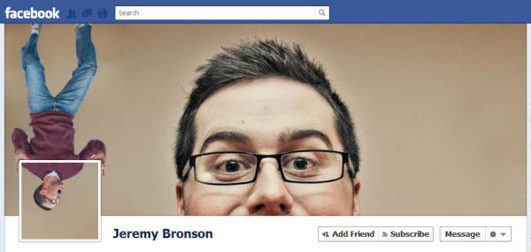 Upside down Fb cover picture