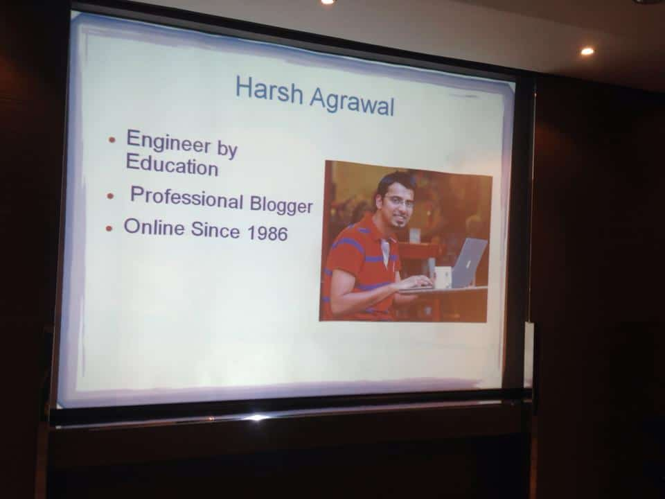 Harsh Agrawal Business Blogging WorkShop