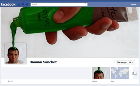 The artist Most Creative and Funny Facebook Profile Cover Picture Ideas
