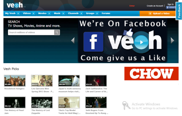 Veoh Where Would You Go If YouTube Died? 7 YouTube Alternatives