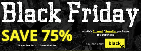 Webhosting buzz Black Friday