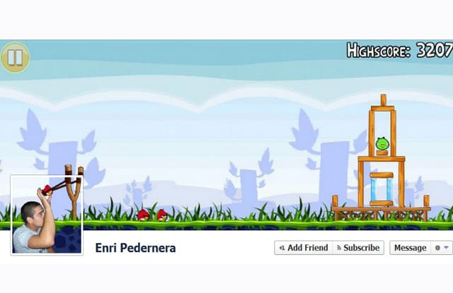 angry birds action Facebook Cover3 Most Creative and Funny Facebook Profile Cover Picture Ideas