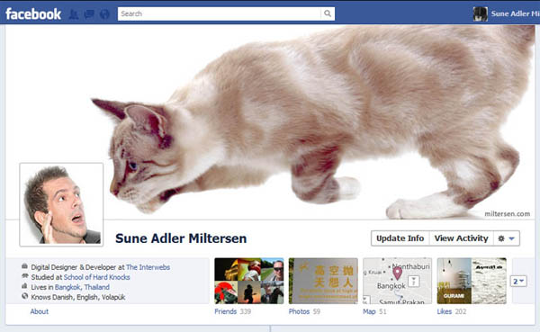 Creative Facebook timeline photo