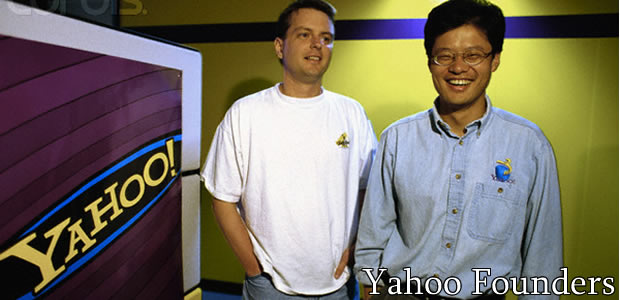 Famous for providing various internet services, Yahoo! Inc. was founded in 1994 by Jerry Yang and David Filo.  Since then, Yahoo! has given us: