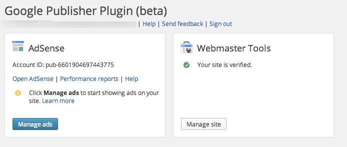 AdSense WordPress plugin