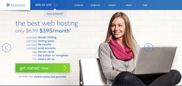 Bluehost 3.95 Discount Promo