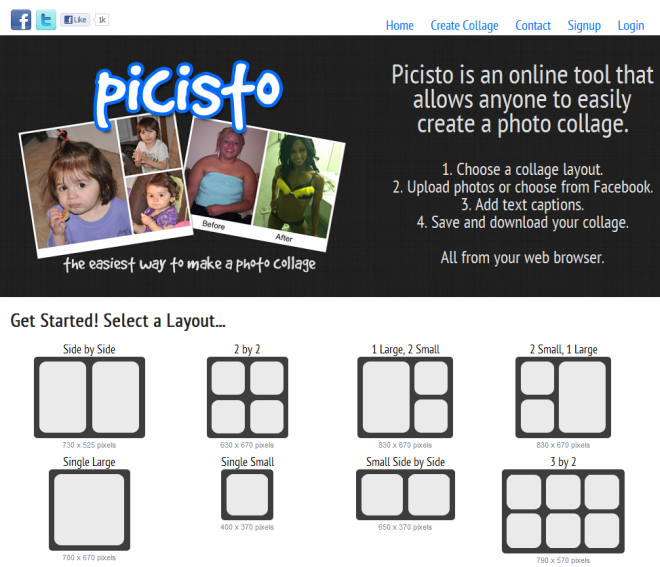 Picisto 5 Awesome Websites to Create Photo Collages