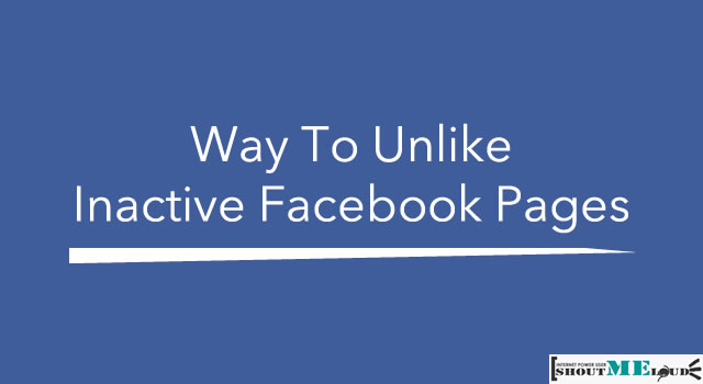 Unlike Inactive Facebook Pages
