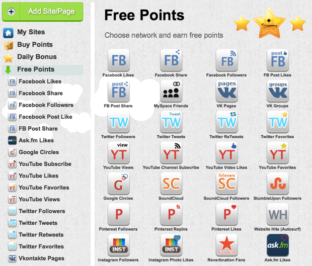 free Addmefast points