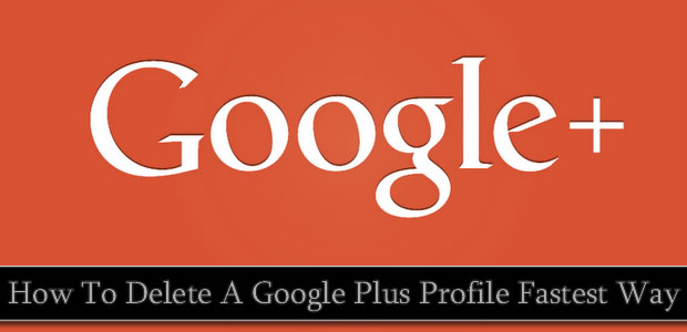 Delete Google plus profile