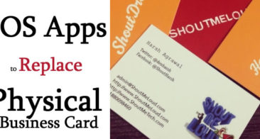 Best iOS Apps As an Alternative To Physical Business Card – Save Paper