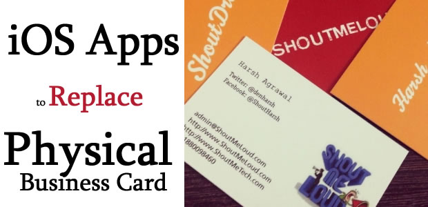 ios apps replace business cards1 Best iOS Apps to Replace Physical Business Card   Save Paper